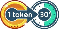 1 token = 30'
